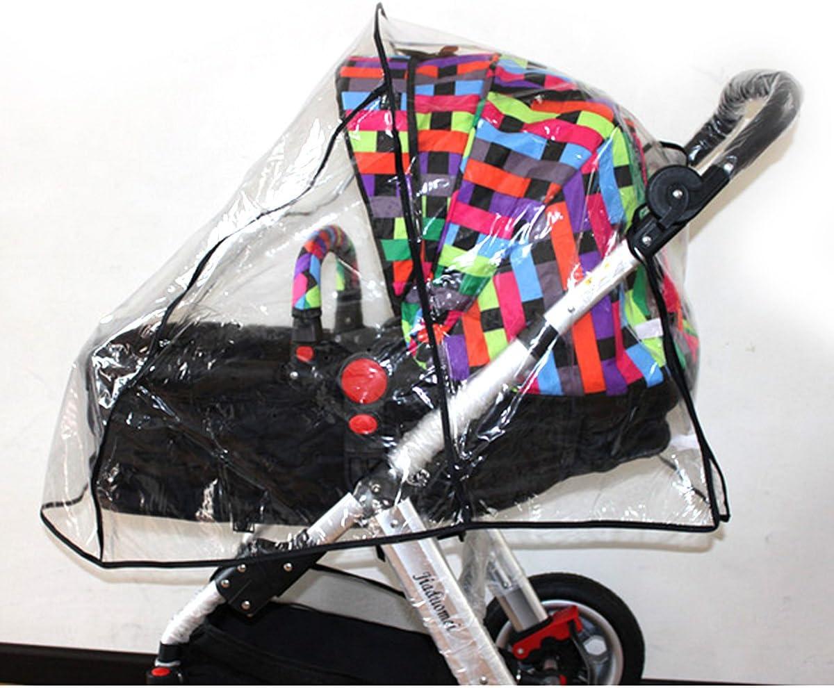 LA HAUTE Universal Baby Stroller Rain Cover Waterproof Ventilated Wind Dust Weather Shield