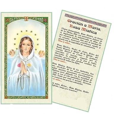 Amazon.com: Gifts by Lulee, LLC Oracion a Maria Rosa Mistica Tarjeta De Rezo Laminada Bendita Por Su Santidad Francisco: Jewelry