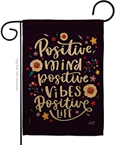 Angeleno Heritage Positive Mind Garden Flag Expression Inspirational Spiritual Hope Love Wisdom Support Emotion Postive House Decoration Banner Small Yard Gift Double-Sided, Thick Fabric, Made in USA