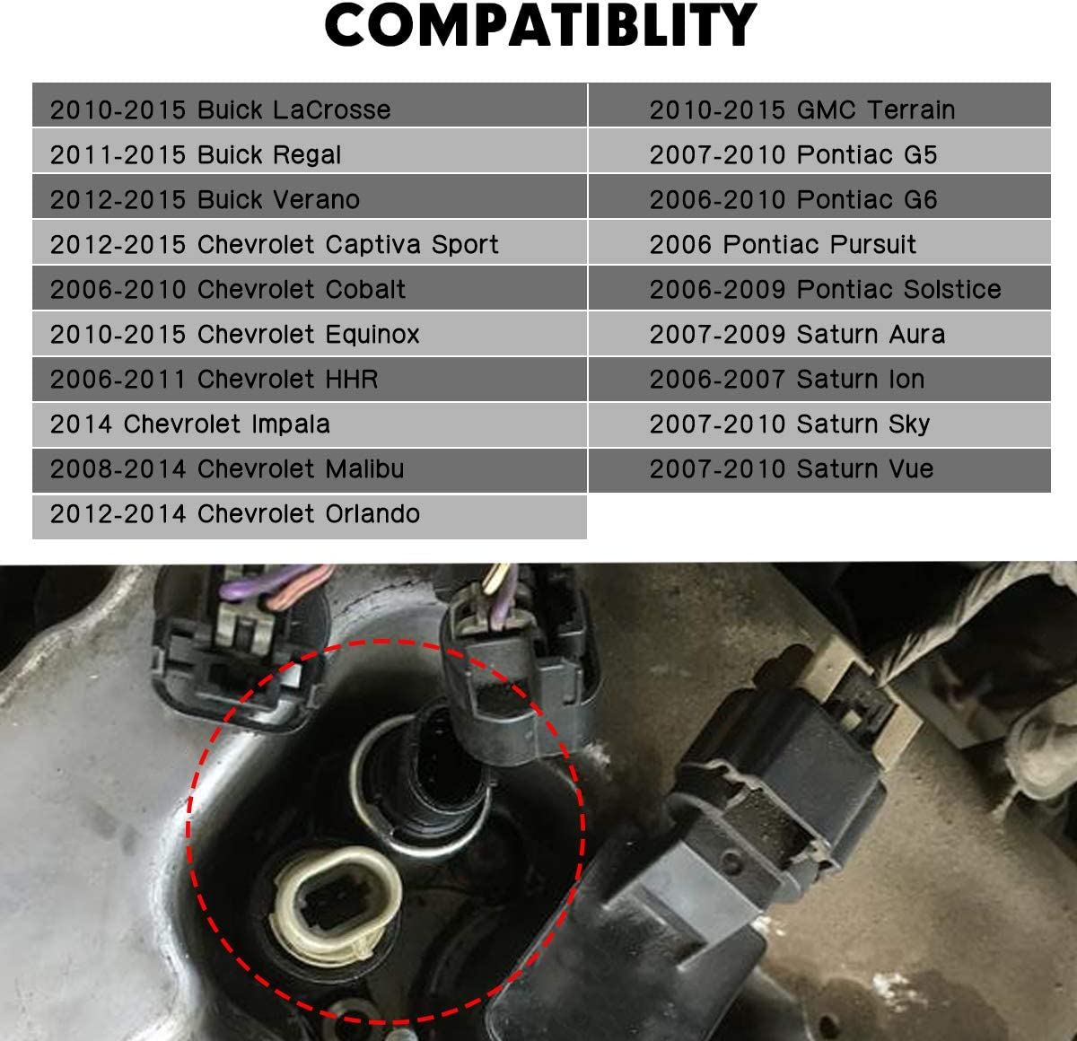 2.2 2.4L HHR Replaces Part # 12655421 Malibu Equinox Pontiac G6 and more GM Vehicles 2.0 GMC Terrain 12655420 Intake and Exhaust Camshaft Position Actuator Solenoid Valve Fits Chevy Cobalt