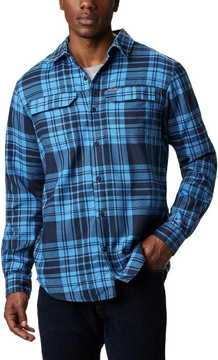 Columbia Mens Silver Ridge Flannel Long Sleeve Shirt