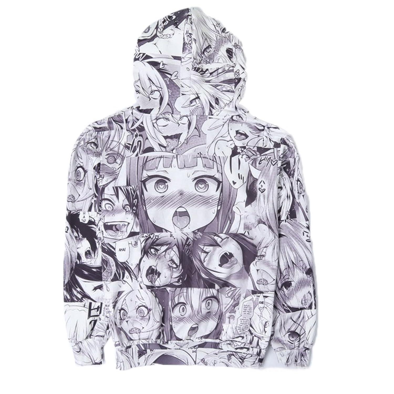 Cowesoo Funny Ahegao Zipper Hoodie Jacket Men's Sweatshirt Plus Size  Tracksuit: Amazon.co.uk: Clothing