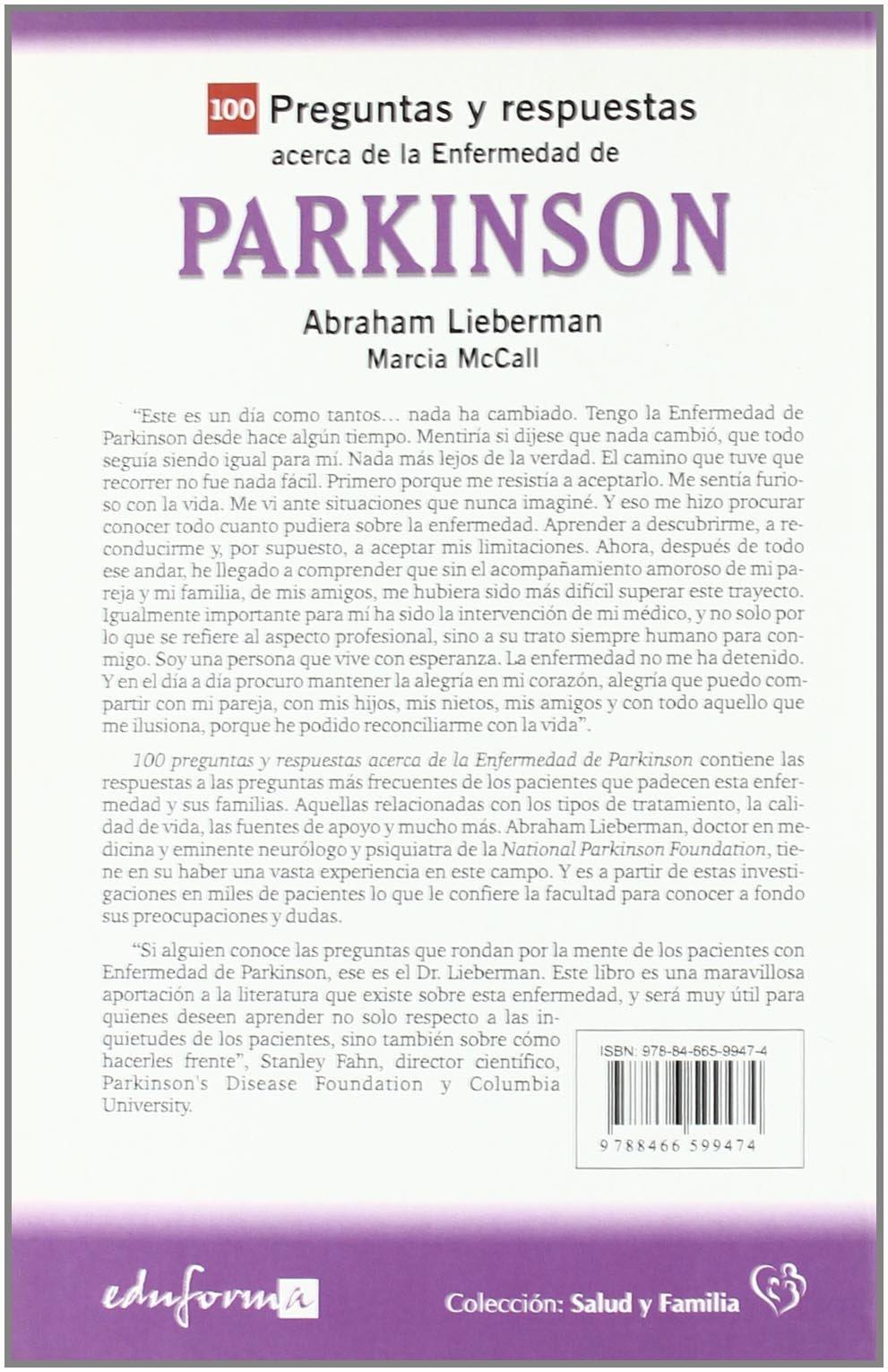 100 Preguntas Y Respuestas Acerca Del Parkinson Salud Y Familia: Amazon.es:  Inc Jones And Bartlett Publishers: Libros