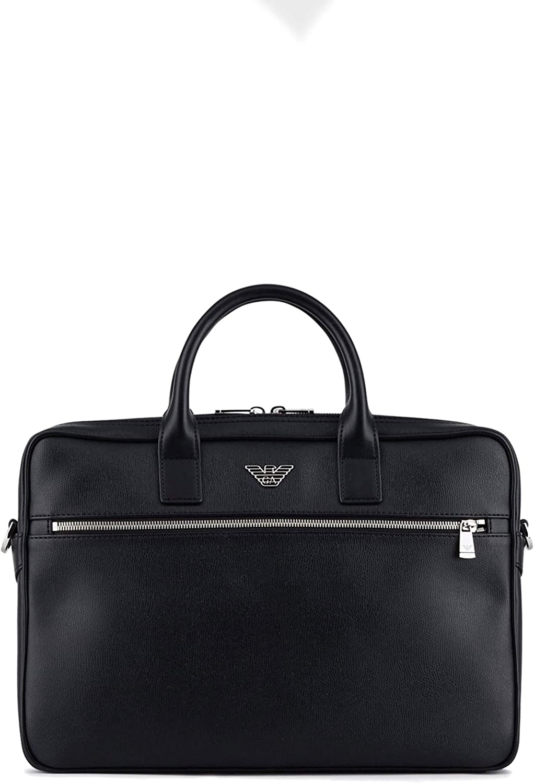 Men's Accessories Emporio Armani Black Briefcase With Logo FW 20