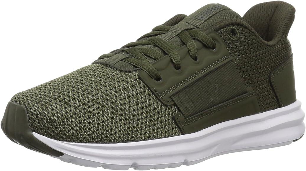 7741119234 PUMA Unisex Enzo Street Sneaker, Forest Night-Castor Gray, 2 M US Little