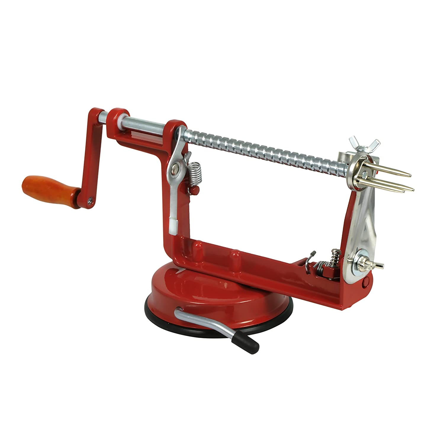 Farberware 5162120 Apple Peeler, Slicer and Corer, Small, Red