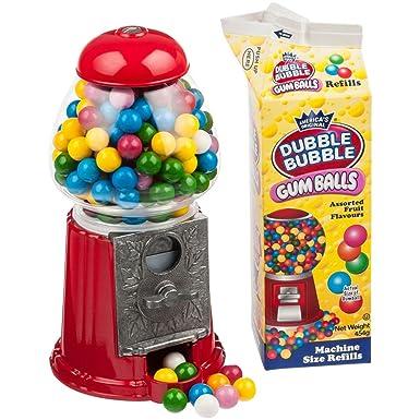 Máquina de chicle 23 cm Big Red + 1 bolsa de leche Dubble Bubble Chewing Gum
