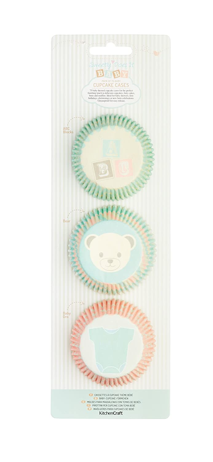 Amazon.com: Baby Themed Cupcake Case Selection - Pack of 75: Kitchen & Dining