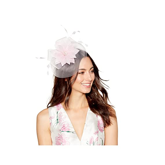 8c896393ff08 Debut Womens Light Pink Feather Flower Fascinator: Debut: Amazon.co.uk:  Clothing