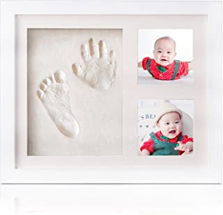 Baby Hand and Footprint Kit,Newborn Keepsake for Registry,Wooden Photo Frame,Baby footprint Kit Decorations for Room or Nursery Decor