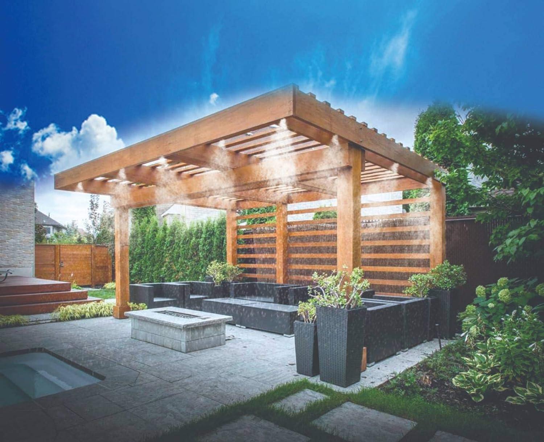 A&L Miracle Mist - Sistema de refrigeración para Exteriores, regulación de la Temperatura y del Agua, nebulizador, Color Negro: Amazon.es: Jardín