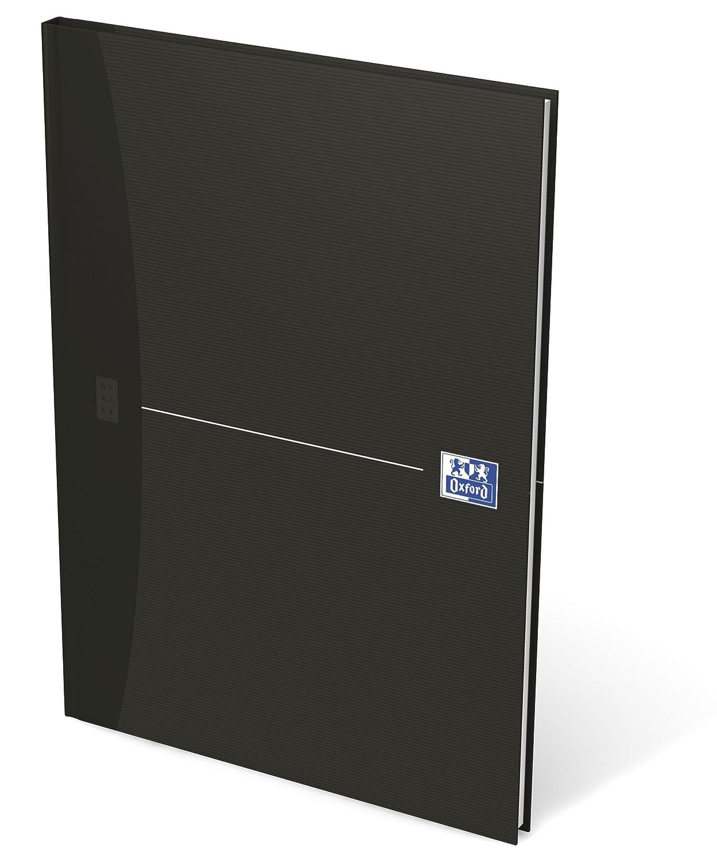 Oxford 100050241 - Blocco Smart Black, formato A4+, a quadretti da 5 mm, 50 fogli, 90 g/m², carta ottica, confezione da 10 pezzi, colore: Nero Hamelin Brands