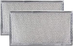 Replacement Microwave Grease Filters Compatible with Whirlpool 8206229A - 5-7/8 x 10-5/8 x 3/32-2 Pack