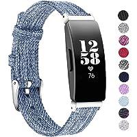 KIMILAR Band compatibel met Fitbit Inspire HR voor Vrouwen Mannen, Vervanging Zachte Ademende Stof Band Band Band voor Fitbit Inspire & Fitbit Inspire HR Fitness Tracker