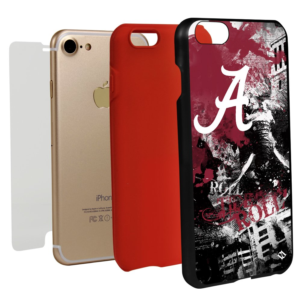 Guard Dog Alabama Crimson Tide Paulson Designs Spirit Hybrid Case for iPhone 7/8 with Guard Glass Screen Protector by Guard Dog