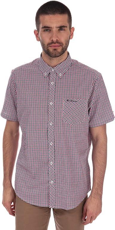 Ben Sherman - Camisa casual - para hombre Rouge Bleu M: Amazon.es: Ropa y accesorios
