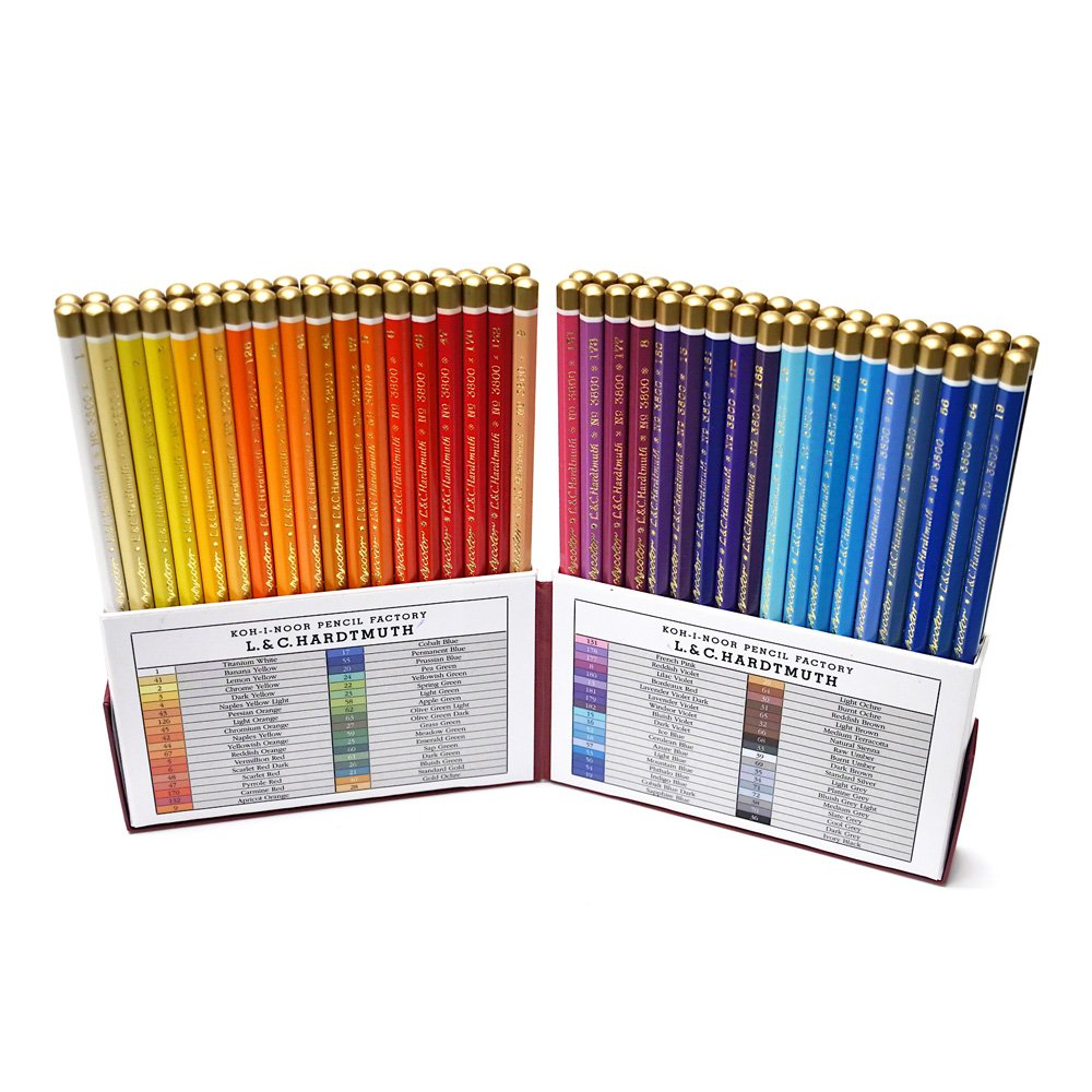 Koh-I-Noor Polycolor Retro 72 Color Pencl Set