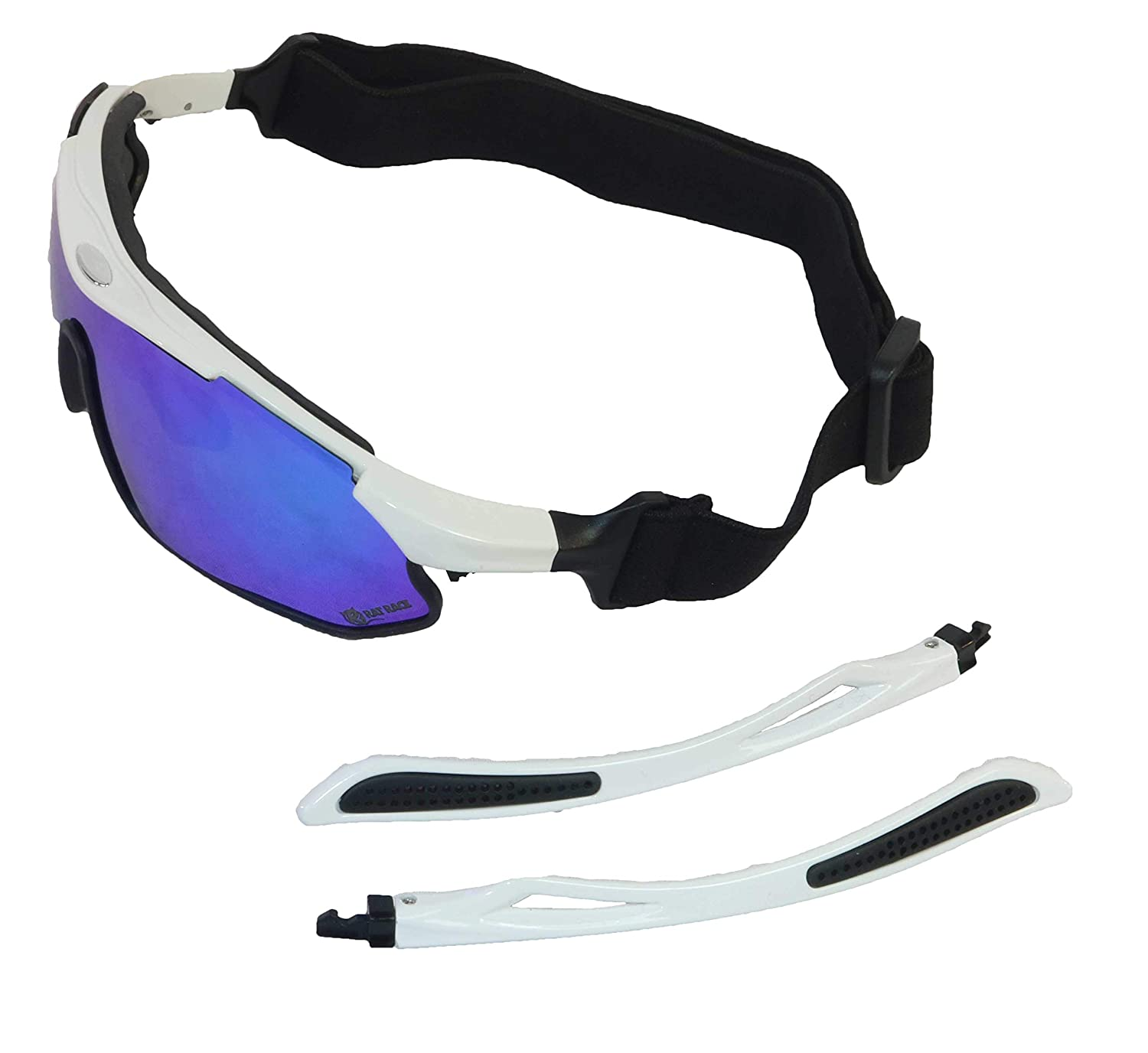 Rat Race Sport Polarised Sunglasses UV Protection Interchangeable lenses Clear Coloured Unisex Mens Womens Fitness Cycling Skiing