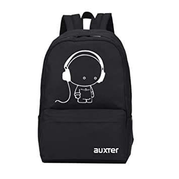 851fae6d9ab9 AUXTER Music 15 LTR Black Casual Backpack  Amazon.in  Bags
