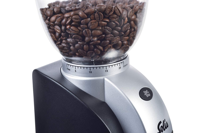 Antistatikeinrichtung Scala Classic Solis Elektrisches Kaffeemahlwerk Schwarz 13 Mahlstufen 1-10 Tassen
