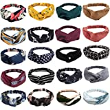 20 Pack Boho Headbands for Women,Ahoney Knotted Hair Band Elastic Headband Cross Twisted Head Wrap Floral Bandeau…