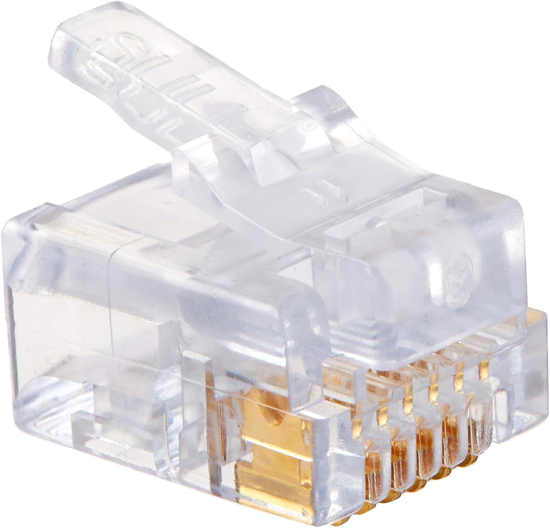 100pcs//pack RJ11 RJ12 6P4C Telephone Modular Plugs Telecom Connectors