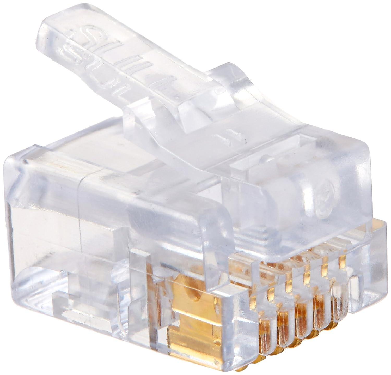 Platinum Tools 100026B EZ-RJ12/11 Connector, 100-Pack - Crimpers ...
