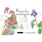 cartes postales Fleurs de montagne coloriages anti-stess