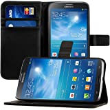 kwmobile Elegant synthetic leather case for the Samsung Galaxy Mega 6.3 with magnetic fastener and stand function in black