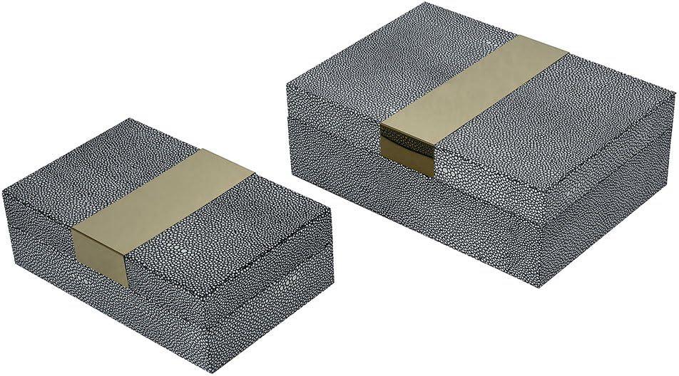 ELK Coral Gables Decorative Box, Grey Faux Shagreen