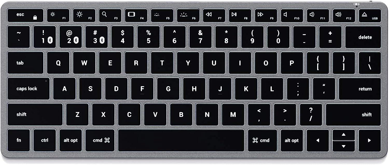 SATECHI Teclado Delgado retroiluminado Bluetooth X1– Teclas iluminadas y sincronización Multi-Dispositivo - Compatible con 2020 iMac, 2020 MacBook ...