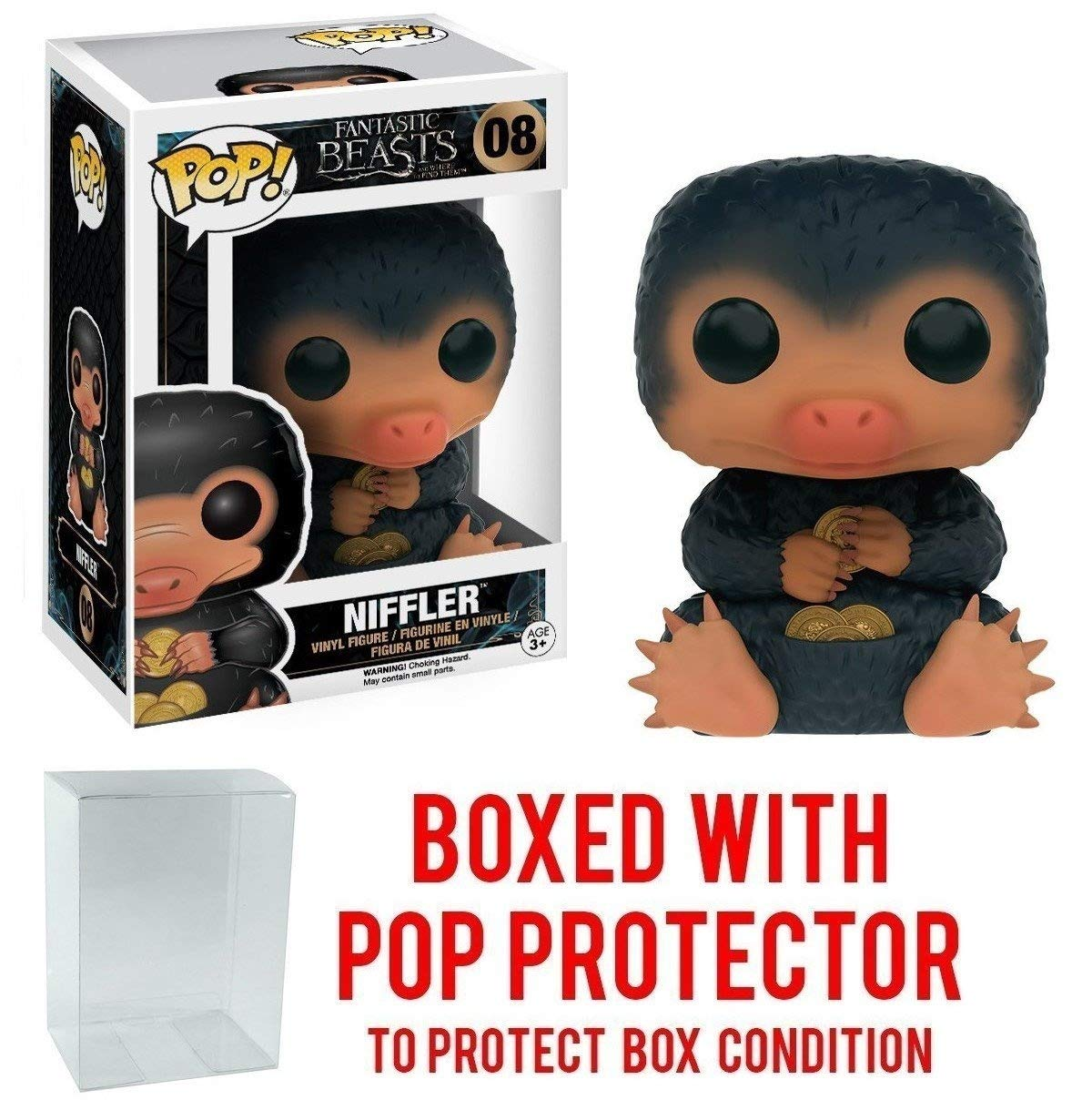 Funko Pop Niffler #8 Vinyl Figure Bundled with Pop Box Protector Case Movies: Fantastic Beasts And Where to Find Them