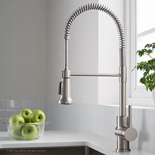 Kraus Britt Spot Free Stainless Pre-Rinse Commercial Kitchen Faucet with Dual Function Sprayhead in all-Brite Finish, KPF-1690SFS Renewed