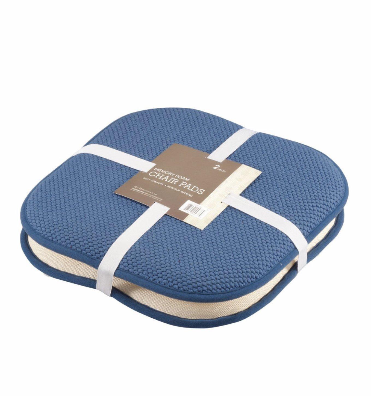 Amazon.com: GoodGram 2 Pack Non Slip Ultra Comfort Memory Foam Chair Pads    Assorted Colors (Blue): Home U0026 Kitchen