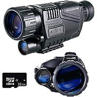 Monocular de Visión Nocturna, 5 x 35 Alcances Digitales de Visión Nocturna HD con Función Recargable/Tomar Fotos…
