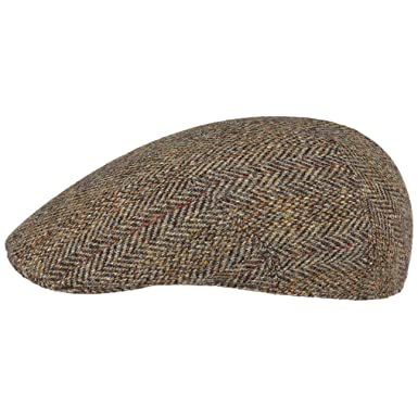 2f83f03f Stetson Classic Harris Tweed Flat Cap Men | Made in Germany at Amazon Men's  Clothing store: