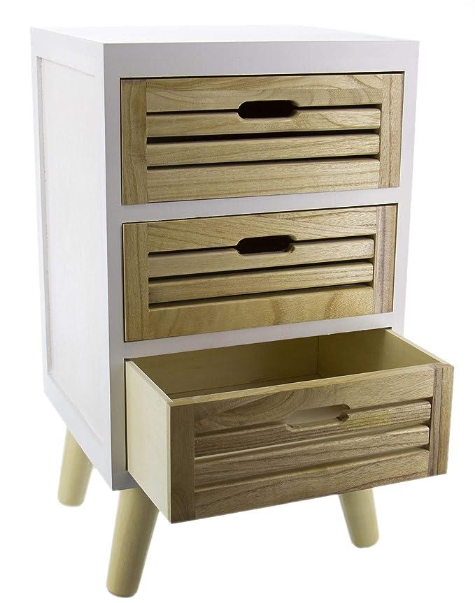 mueble de madera de tormenta y álamo con 3 cajones, cajonera ...