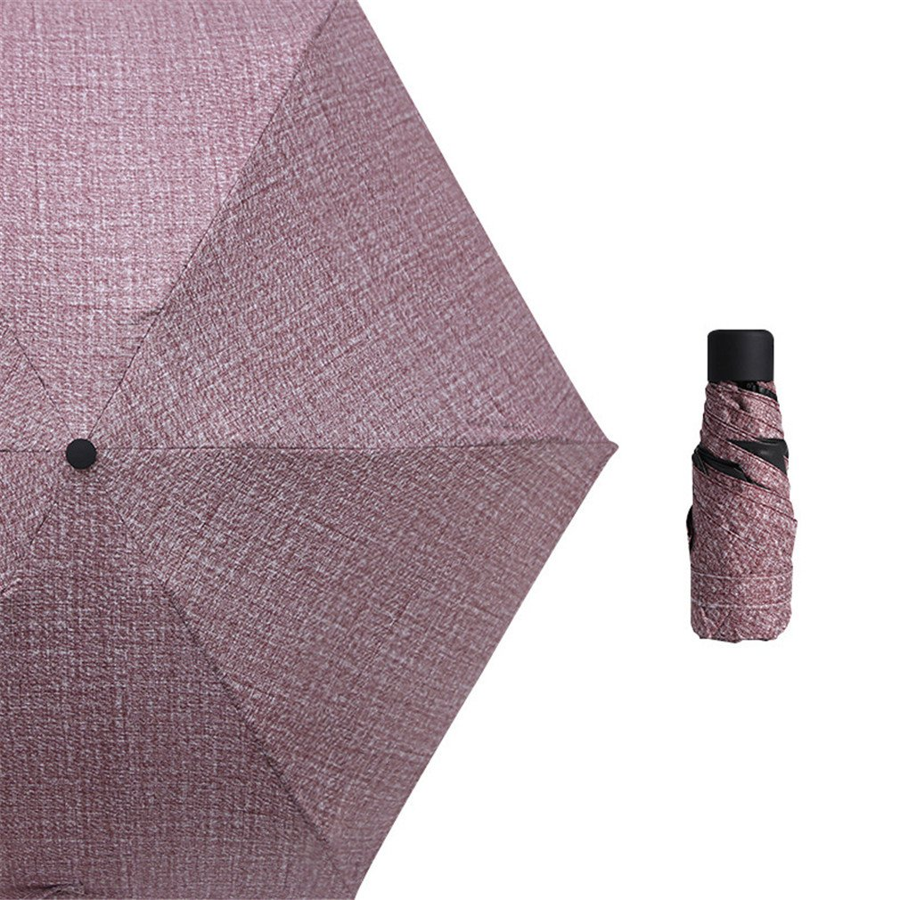 Guoke The Weather Was Fine Rain Umbrellas Use A Sunscreen Ultra Small Ultra Light Mini Light Folding Portable, Cowboy - Brown by Guoke (Image #1)