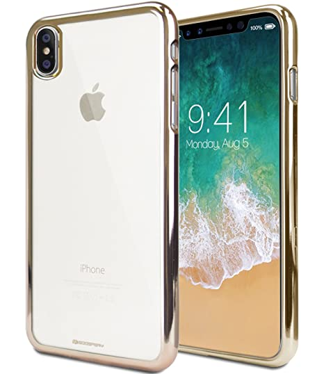 buy popular bee95 d71be [SPECIAL PRICE] iPhone X Case, iPhone 10 Case, [Metallic Edge Finish]  GOOSPERY Ring 2 Jelly Case [Flexible] Slim Thin Rubber TPU Bumper Case ...