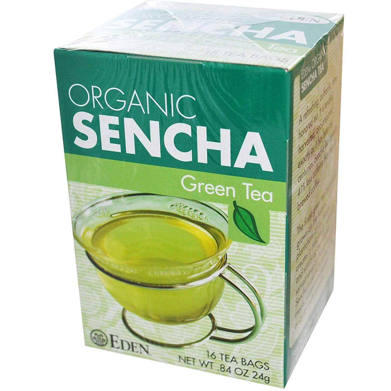 Amazon.com : Eden Foods, Organic, Sencha Green Tea, 16 Tea Bags, .84 oz (24  g) - 2pcs : Grocery & Gourmet Food