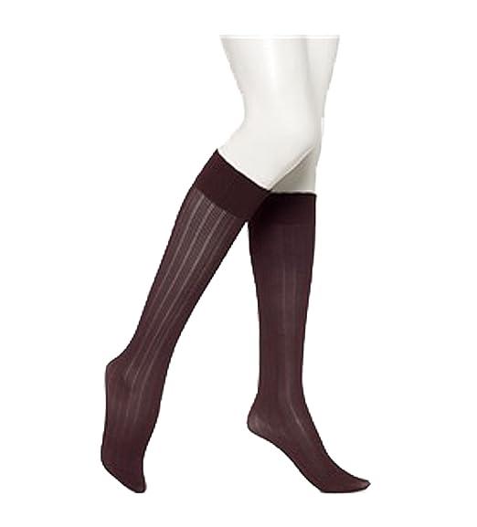 c60f43758 HUE Women s Triple Rib Knee Hi Socks One Size Claret at Amazon Women s  Clothing store
