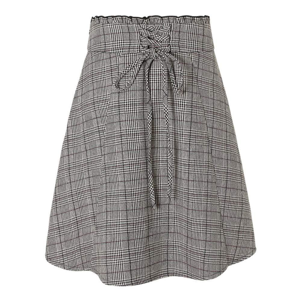 QJKai Winter Aline Skirt Female British Plaid College Wind was Thin Wild Skirt
