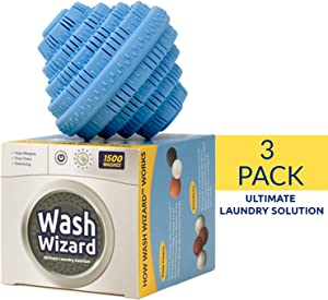 Wash Wizard - Laundry Detergent Ball 3 Pack - Washer Ball - Reusable Laundry Detergent