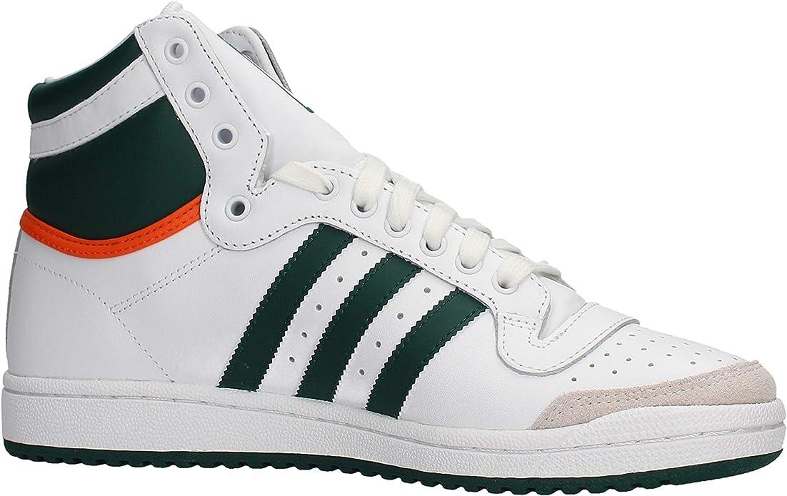 Adidas Top Ten Hi White Green Orange: : Chaussures