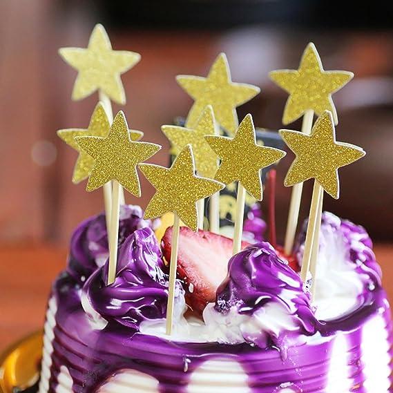 Freebily Kuchendekoration Cake Toppers Kuchen Deko Cupcake Topper
