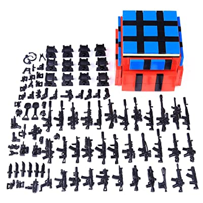 Lingxuinfo Military Army Weapons and Accessories for Brick Figures, Military Weapons Box Building Blocks Toy Compatible with Major Brands: Toys & Games