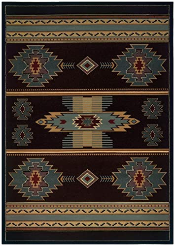 United Weavers of America Native Canvas Area Rug in Smoke Blue 10 ft. 6 in. L x 7 ft. 10 in. W