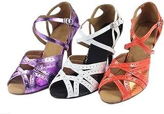 YFF Les femmes cadeaux Chaussures de danse de bal danse latine chaussures de danse tango 7.5CM 8.5cm