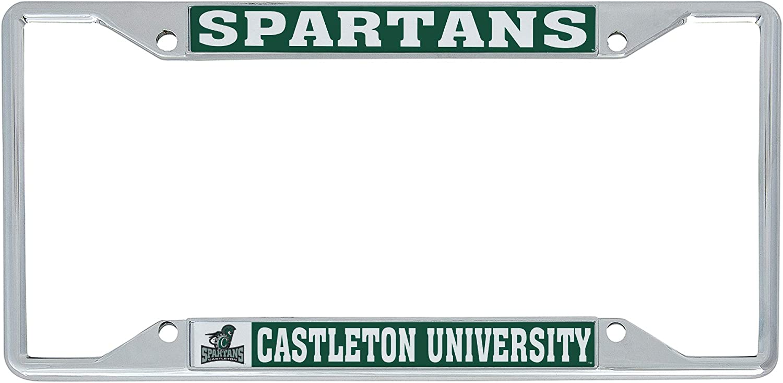 Desert Cactus Castleton University NCAA Metal License Plate Frame for Front or Back of Car Officially Licensed Mascot