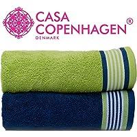 Casa Copenhagen 500 GSM 2 Pieces Large (70 cm x 140 cm) Cotton Bath Towel Set - Pack of 2